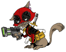 Deadpool Kitty by IncenteFalconer