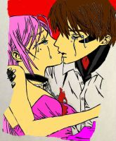 Tsukune And Moka Colored 1 by kmtvm123