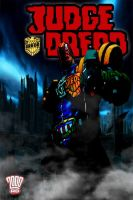 my judge dredd comic cover poster 1 by IGMAN51