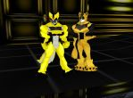 Bumblebee Wolves by dragonzero1980