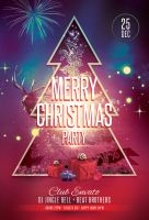 Merry Christmas Party Flyer by styleWish