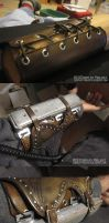 Ezio cosplay-left bracer wip by fevereon