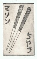 Chopstick Etching by Mearii-chan