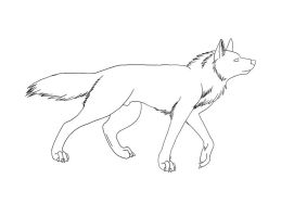 Wolf Lineart by Brookie-Tippe