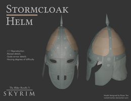 Skyrim - Stormcloak Helm Paper Model by RocketmanTan