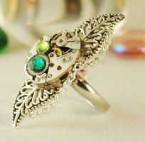 Steampunk 'Ring of Nature'. by Henri-1
