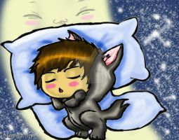 sweet dreams grey wolfy... by Namco6