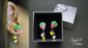 Strawberry Earrings [Request] by SmallCreationsByMel