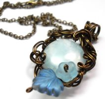Frostbound Forest Necklace by sojourncuriosities