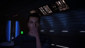 Kaidan Alenko in Shepard's Quarters - Mass Effect by loraine95