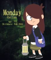 Monday Collins Info : Gravity Falls by SkiM-ART