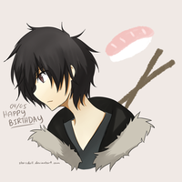 Happy Birthday, Izaya by worlddestroyingfire