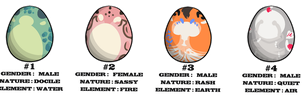 Dragon Egg Adoptables - closed by Vholkrum