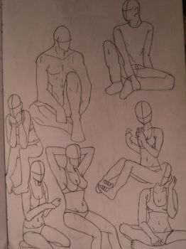 Drawing Practice-Mainly Girls by Many9919