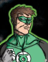 Green Lantern doodle by thesometimers