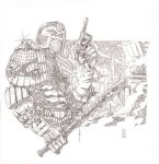 Judge Dredd - Pencils by The-Real-NComics