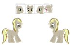 Dr.Dewey Derpy Hooves Ref Sheet by TaintedOneNinja