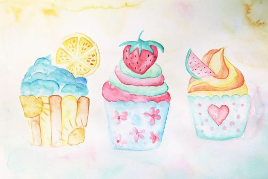 Summer Cupcakes by ElyneNoir