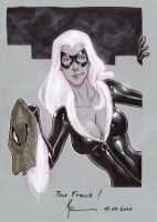 Black Cat, Convention Sketch by Guy-Bigbelly