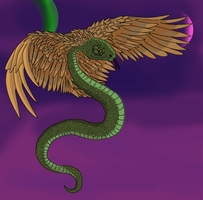 Feathered serpent lusus by evilcarp