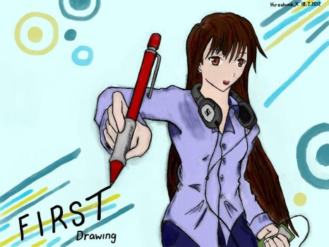 Tablet: First Drawing by hiroshimax