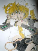 Kagamine Rin and Len by Pix-chan