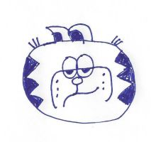 Lopsided face Garfield by dth1971