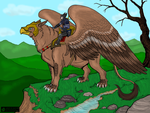 A rider and his gryphon by oOKiwi-BerrieOo