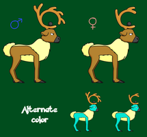 Stantler Evolution - Cerebou by DragonKazooie89