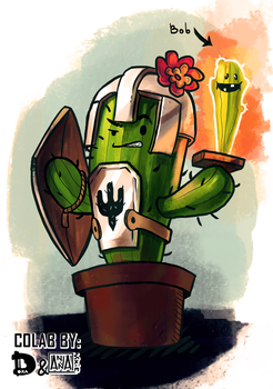 the blazing demon cacti bob the prickle of souls by annavixie