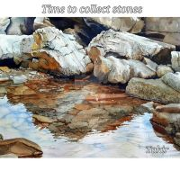 Time to collect stones (3) fragment by Takir