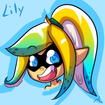 Lily - Splatoon OC request by indorak