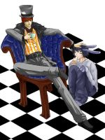 Mad Light and L Hare by yagami-raito