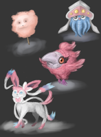 Pokemon Gen 6 Sketches by Dreaming-in-Shadow
