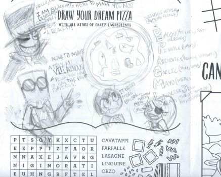I drew this on a kids menu... by SkeleScene