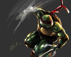 Tmnt Raphael 30th Anniversery Tribute wip by MasterOfElements