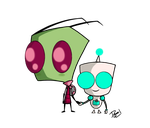 Kids - Zim and Gir by Dokoyne