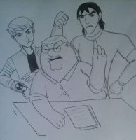 Peter Griffin Meets Ben 10 by SpoonfulofLead