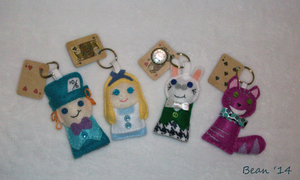 Alice and Friends Keychains by beanchan
