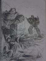 Optimus and Megatron!!! by Froggie56