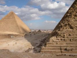 Cairo seen between pyramids by Rea2mill