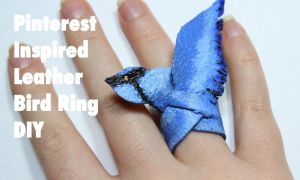 Leather Bird Ring (VIDEO TUTORIAL) by PipariDesign