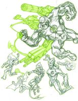 Green Lantern Corps - Sketch01 by dichiara