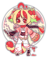 OfferToAdopt14(CLOSED)StrawberrySamurai by Rofeal