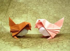 Origami Sparrows by Orestigami