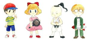 Earthbound kids by b-snippet