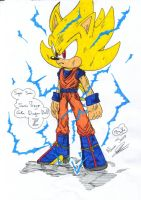 Super Sonic Kakarotto by rickhedgehog