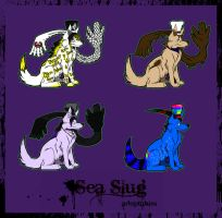 Sea Slug Adoptables by MondaysRaptor