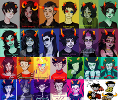 Beta and alpha trolls with names -Homestuck by Medonii