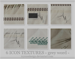 IconTextures100x100_greyword by icyrosedesign